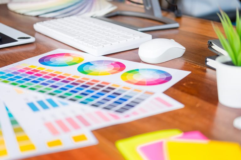 Color palette for design and branding